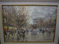Paris Boulevard De La Madeleine 18x24 Original Painting by Antoine Blanchard - 0