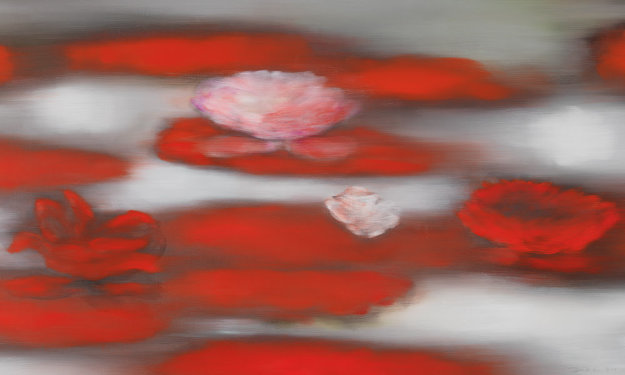 Floating Red 2019   Limited Edition Print by Ross Bleckner