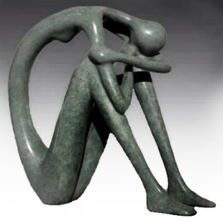 A Time Out to Be Within Bronze  Sculpture - Ruth Bloch