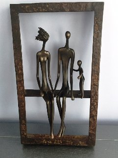 Family of Three Bronze Unique Sculpture 18 in Sculpture by Ruth Bloch