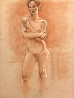 Nude Pastel 1987 25x19 Works on Paper (not prints) by Toby Bluth