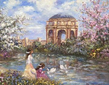 Palace of Fine Arts 21x24 San Francisco Original Painting - Bela Bodo