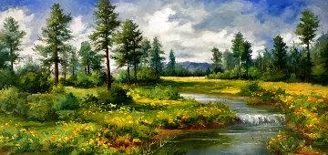White Mountains 31x55  Original Painting - Bela Bodo