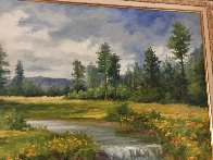 White Mountains 31x55 Super Huge Original Painting by Bela Bodo - 3