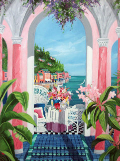 From Portofino With Love 2004 Embellished Limited Edition Print - Sharie Hatchett Bohlmann