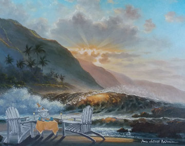 Morning Breeze 2007 34x40 Original Painting - Sharie Hatchett Bohlmann