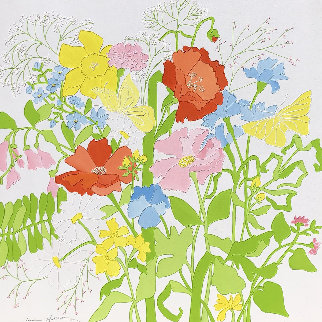 Untitled (Flowers) 1970 36x36 Original Painting - Shari Hatchett Bohlmann