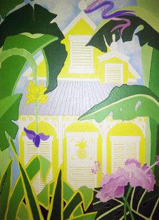 Untitled Plantation House 1984 24x18 Original Painting - Sharie Hatchett Bohlmann