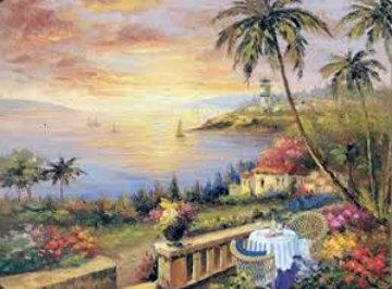 Terrace of the Sun 2005 Limited Edition Print by Shari Hatchett Bohlmann