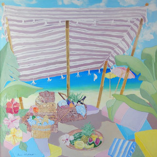 Untitled Painting 1985 40x40 Original Painting - Shari Hatchett Bohlmann