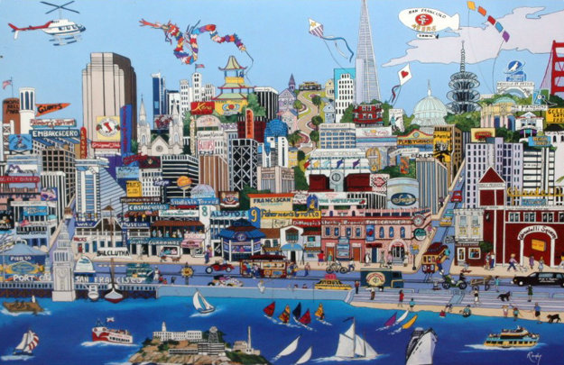 Heart of San Francisco (CA) Limited Edition Print by Sharie Hatchett Bohlmann