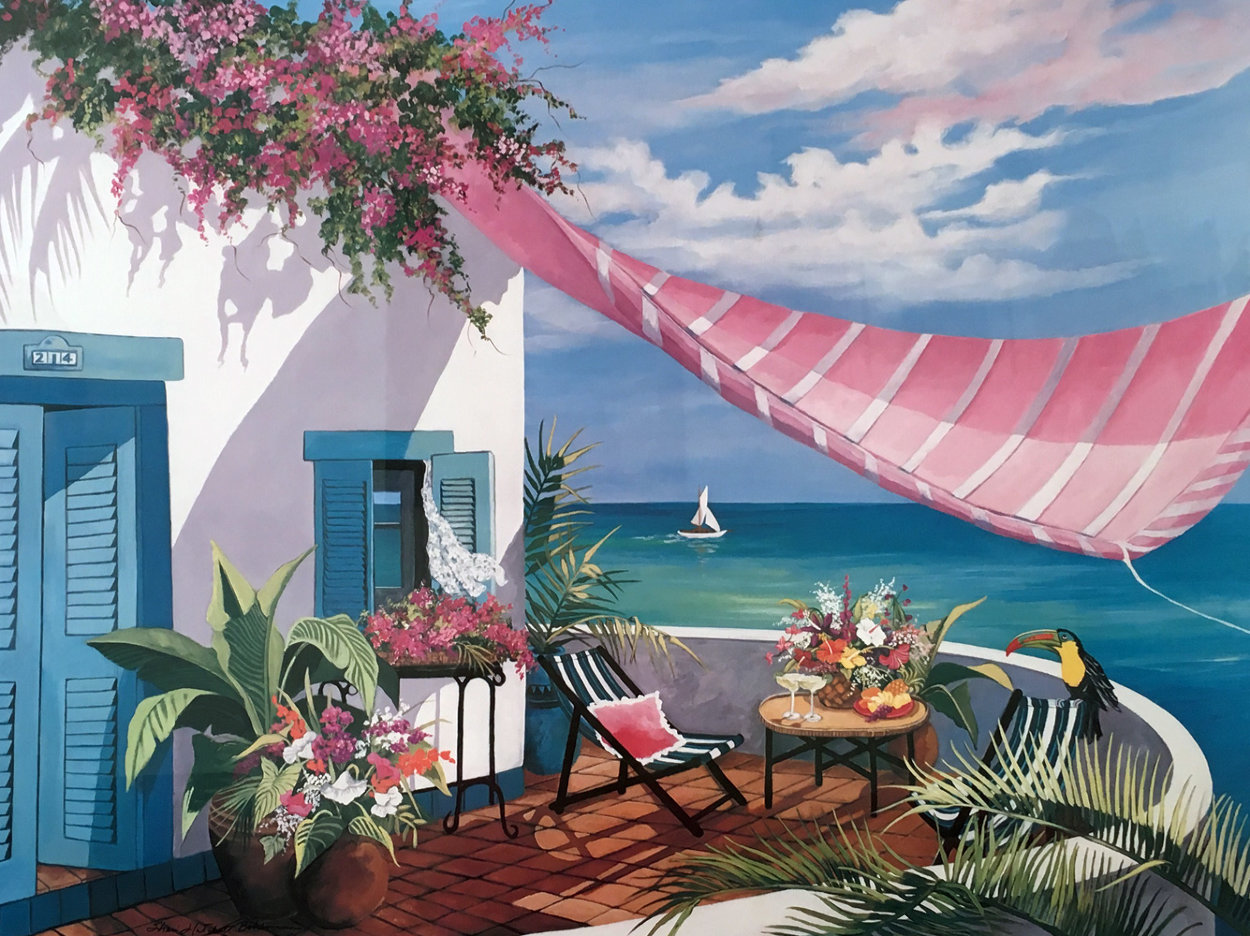 Tropical Afternoon 1990 Limited Edition Print by Sharie Hatchett Bohlmann