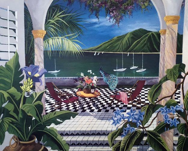 Exotic Rendevous 1990 Limited Edition Print by Shari Hatchett Bohlmann