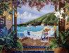 Champagne Wishes 1991 Pioneer Inn Maui 36x48 Hawaii Original Painting by Sharie Hatchett Bohlmann - 0