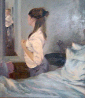 Morning Light 40x34 Super Huge Original Painting - Chen Bolan