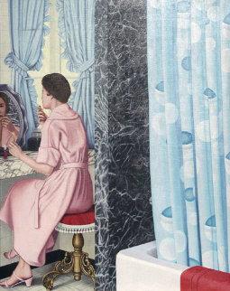 Woman At Dressing Table #24 1980 78x60 Original Painting by Douglas Bond