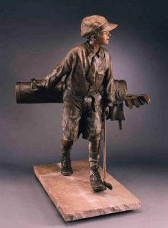 Divot Bronze Life Size Sculpture 46 in Sculpture - Bill Bond