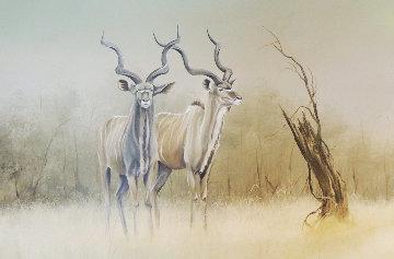 Kudu 1987 22x36 Original Painting by Andrew Bone