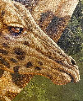 Young Giraffe 2010 25x21 Original Painting by Andrew Bone