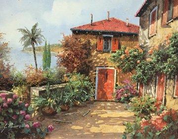 Terre Rosse 2005 17x19 Original Painting - Guido Borelli