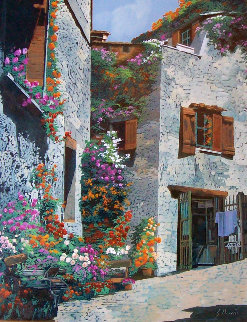 St Pierre 2001 30x34 Original Painting - Guido Borelli