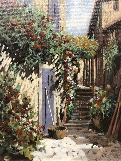 Indaco 16x15 Original Painting by Guido Borelli