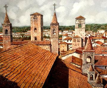 Alba 27x31 Original Painting - Guido Borelli