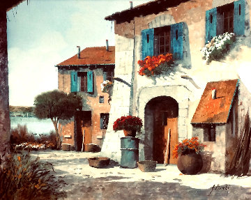 l'aia 25x29 Original Painting by Guido Borelli