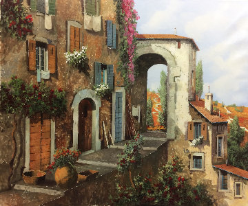 Strada Di Collina 22x26 Original Painting - Guido Borelli