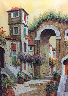 l'Arco La Torre 27x19 Original Painting - Guido Borelli