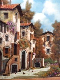 Untitled Painting 1999 32x28 Original Painting - Guido Borelli