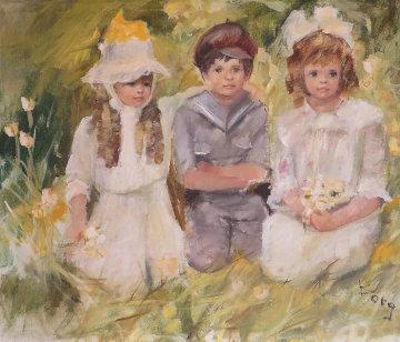 Untitled Oil on Canvas 30x36 Original Painting - Irene Borg