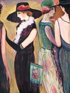 Untitled (Women) 48x36 Original Painting - Irene Borg
