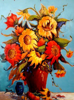 Day of Joy 48x36 Original Painting - Irene Borg