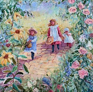 Le Promenade 45x45 Original Painting - Irene Borg