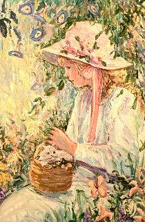 Le Chaton 45x33 Original Painting - Irene Borg