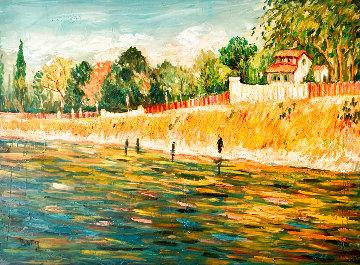 Gogh Interrupted 36x48 Huge Original Painting - Irene Borg