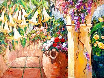 Trumpets 36x48 Huge Original Painting - Irene Borg