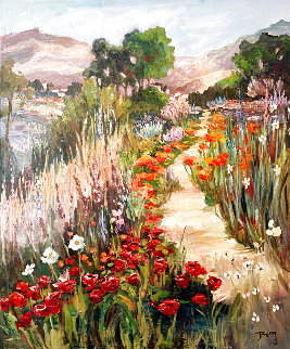 A Path to Remember 60x48 Huge Original Painting - Irene Borg