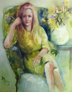 Julia 1975 43x36 Original Painting - Irene Borg