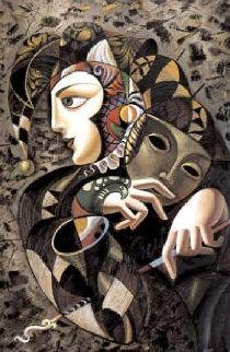Comedie 43x31 Original Painting - Misha Borisoff