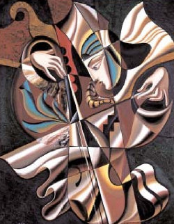Concerto 58x46 Super Huge Original Painting - Misha Borisoff