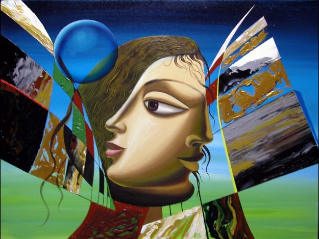 Of One Mind 30x40 Original Painting by Misha Borisoff