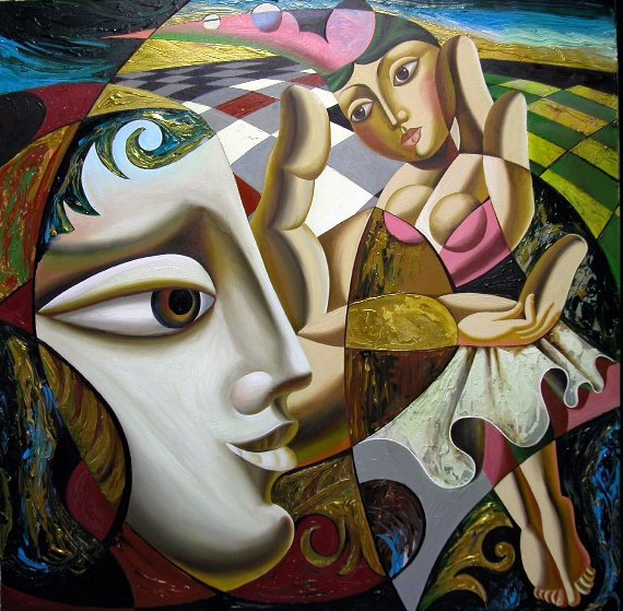 Dreamscape 48x48 Original Painting by Misha Borisoff