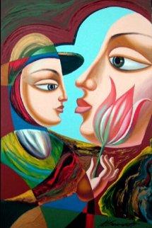Infatuation 36x24 Original Painting by Misha Borisoff