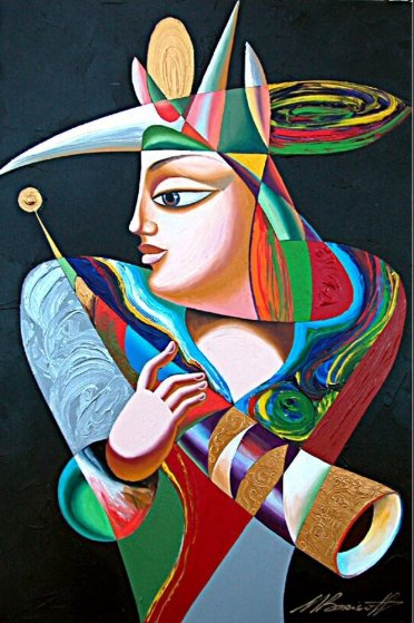Horn of Celebration 36x24 Original Painting by Misha Borisoff