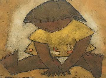 Untitled Lithograph Limited Edition Print - Angel Botello