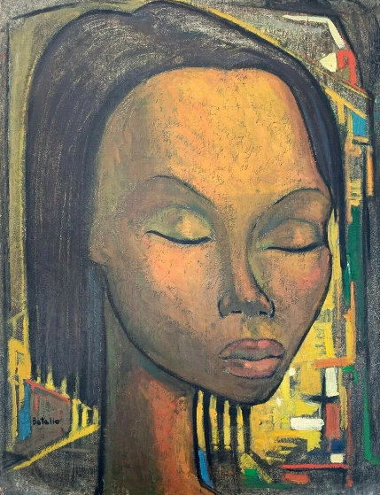 Untitled  Portrait 22x19 Original Painting by Angel Botello