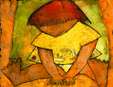 Canicas 24x28 Limited Edition Print - Angel Botello