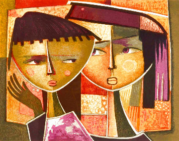 Two Faces Limited Edition Print - Angel Botello